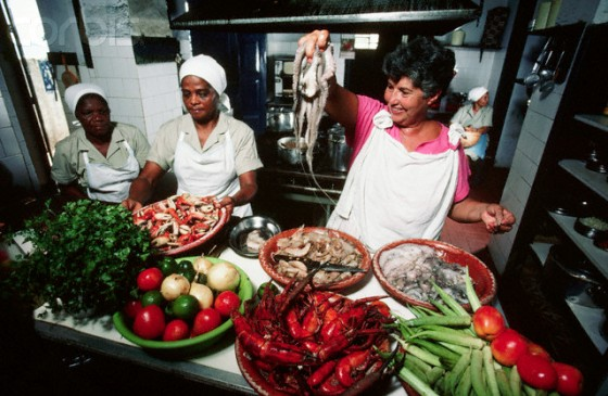 Chefs Preparing Seafood